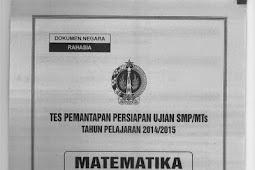 SOAL TPM PROPINSI DIY 2015 Matematika (2-3 Maret 2015)