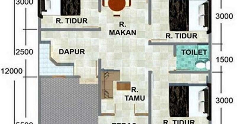 Denah Rumah Minimalis 1 Lantai Ukuran 8x15 Desain Rumah Minimalis
