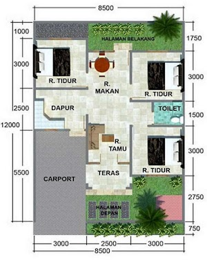 Minimalist House Design Size 8 X 15 Meters