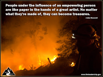 People under the influence of an empowering person are like paper in the hands of a great artist. No matter what they're made of, they can become treasures. –John Maxwell