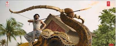 Prabhas as Amarendra bahubali in Bahubali 2