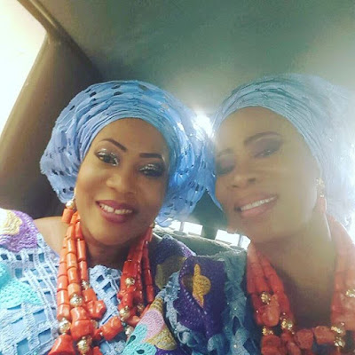 Ooni of Ife,three sisters stood out in royal blue lace