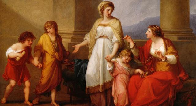Madre, hijos, familia, en la antigua Roma