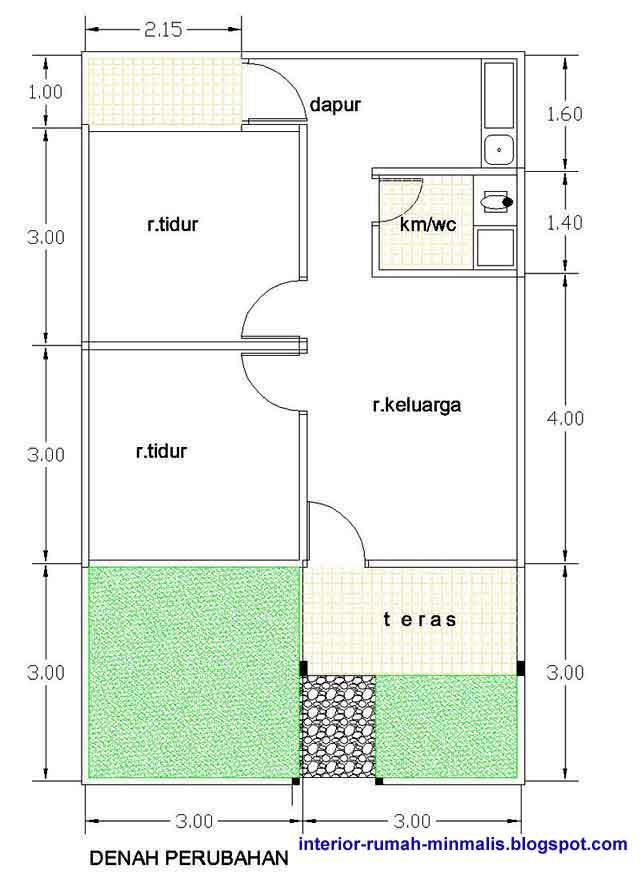 Gambar Desain Rumah Sederhana Minimalis KPR-BTN Type 21/60 ...
