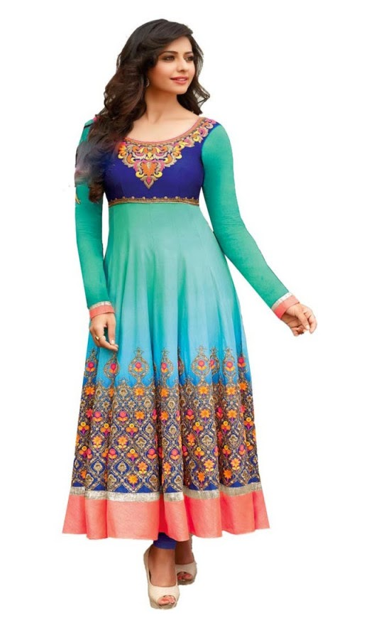 Rakul Preet Singh In Attractive Cyan Blue Salwar Kameez