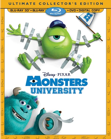 Poster Of Monsters University 2013 English 300MB BRRip 480p Free Download Watch Online