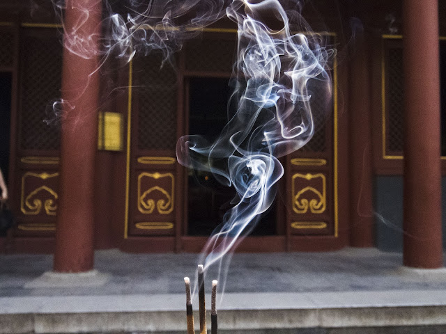 Incense burning at Beijing's Lama Temple