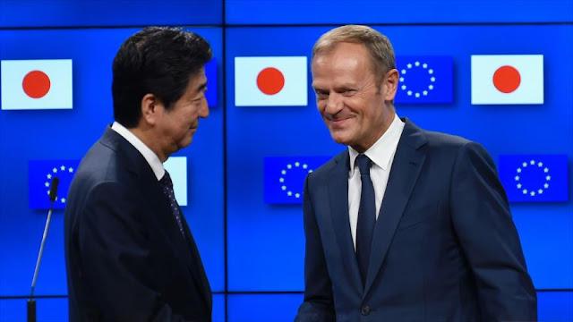 UE firma con Japón su acuerdo comercial bilateral más importante