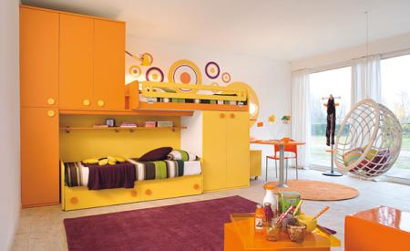 دهان غرف أطفال 2019 باللون البرتقالي