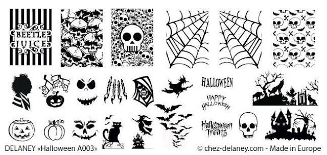 Lacquer Lockdown - Halloween, halloween nail art, halloween nail art stamping plates, nail art, nail art stamping ideas, holiday nail art, stamping plates, Chez Delaney, Beetlejuice, skulls, haunted houses, bats