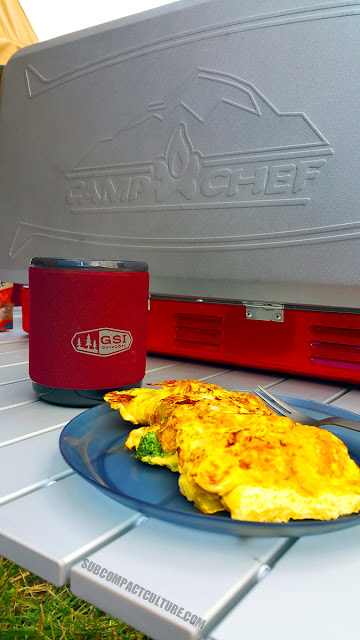 Andy's famous omelets: created campside are the best!