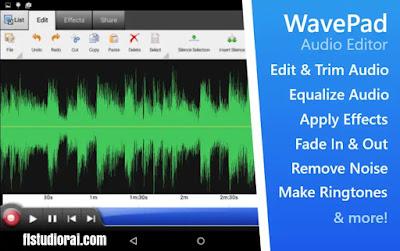 WavePad Free Audio برنامج قص الصوت و الاقاعات من الأغنية