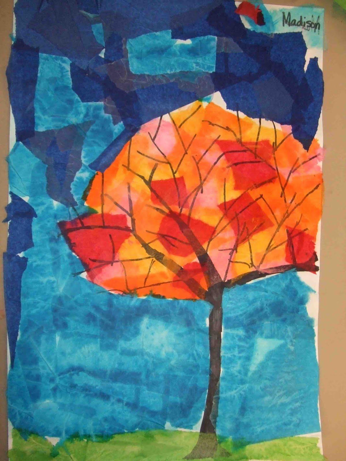 tissue transfer art {easy kid art project!}
