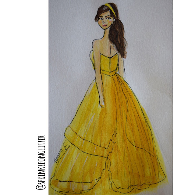 Sprinkle On Glitter Blog// Beauty and the Beast// yellow dress