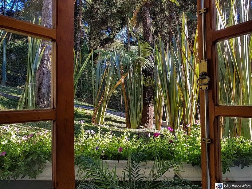 Vista de um dos quartos na Pousada Campos dos Holandeses - Onde ficar em Campos do Jordão