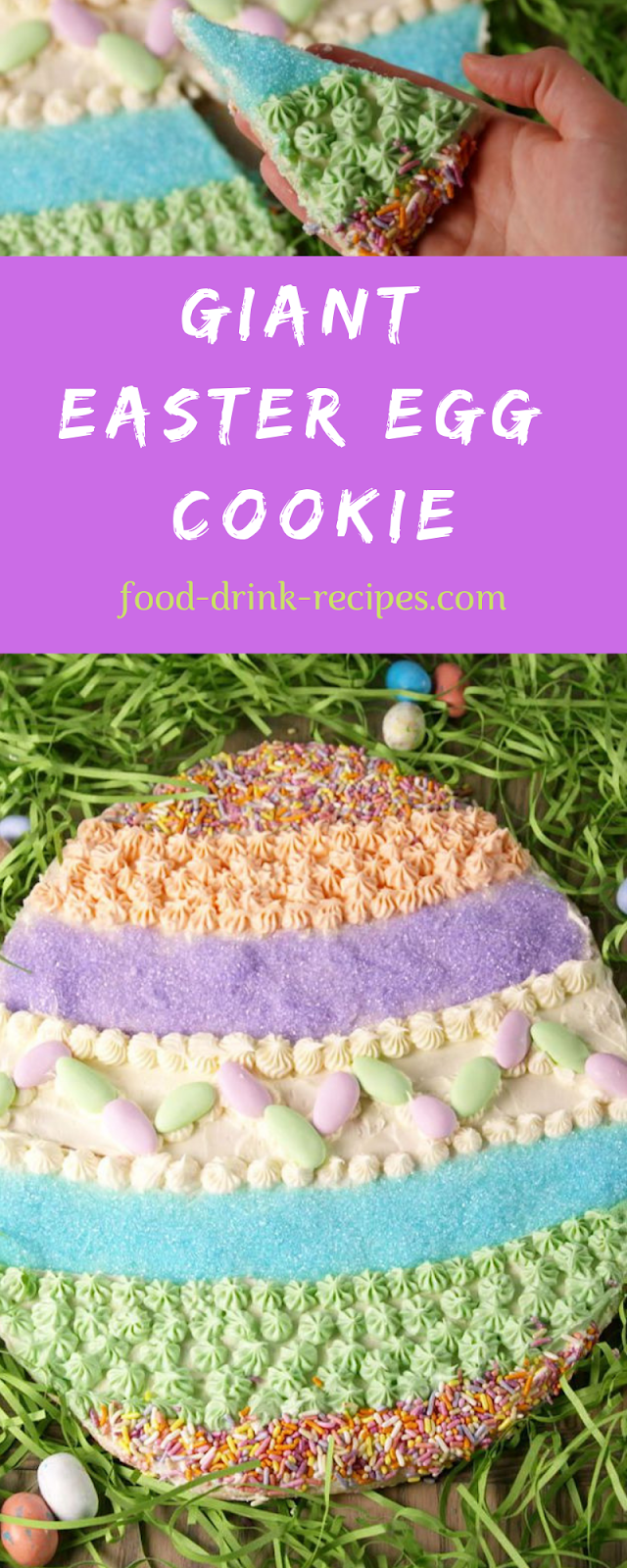 Giant Easter Egg Cookie - food-drink-recipes.com
