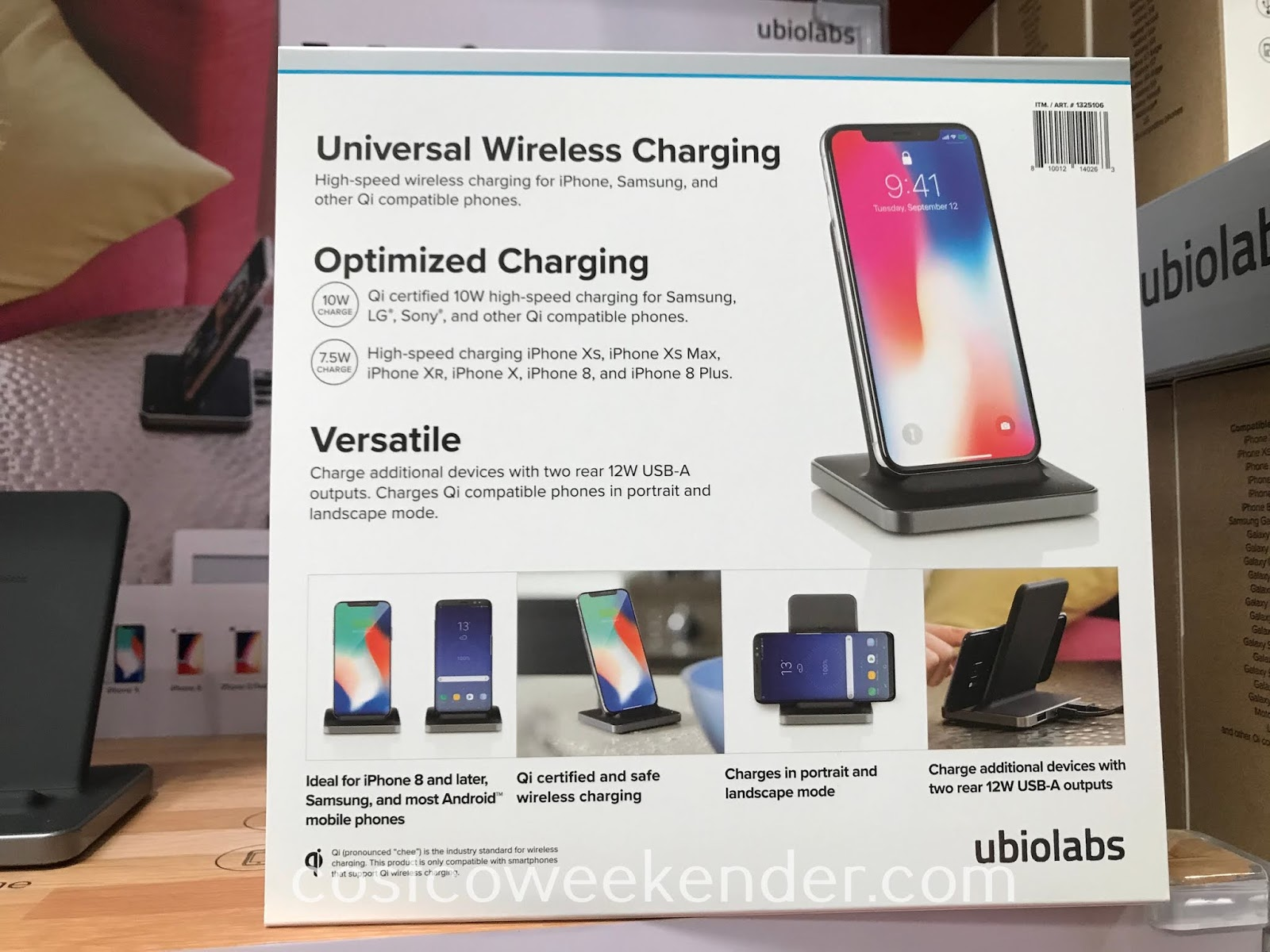 Costco 1325106 - Ubio Labs Wireless Charging Stand: convenient yet practical