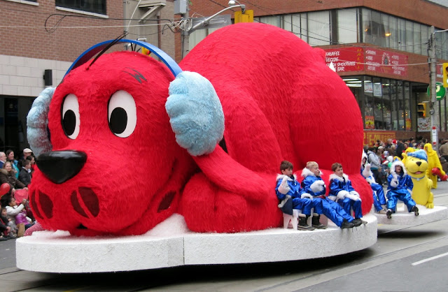 Image: Everybody's favourite big red dog at the 2009 Santa Claus Parade, Toronto, by Loozrboy on Flickr
