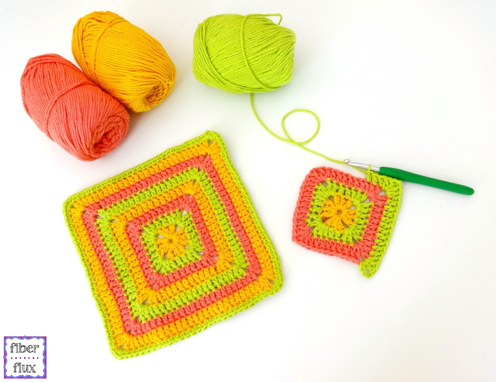 Fiber Flux: Free Crochet Pattern...Tropical Punch Dishcloth!