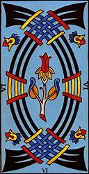 Les épées, exemple de carte NON pour un tirage OUI NON