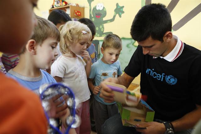 Novak Djokovic, nuevo Embajador de Buena Voluntad de UNICEF