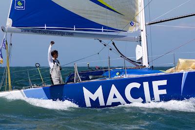 Très belle 1e journée de Charlie Dalin sur la Le Havre All Mer Cup