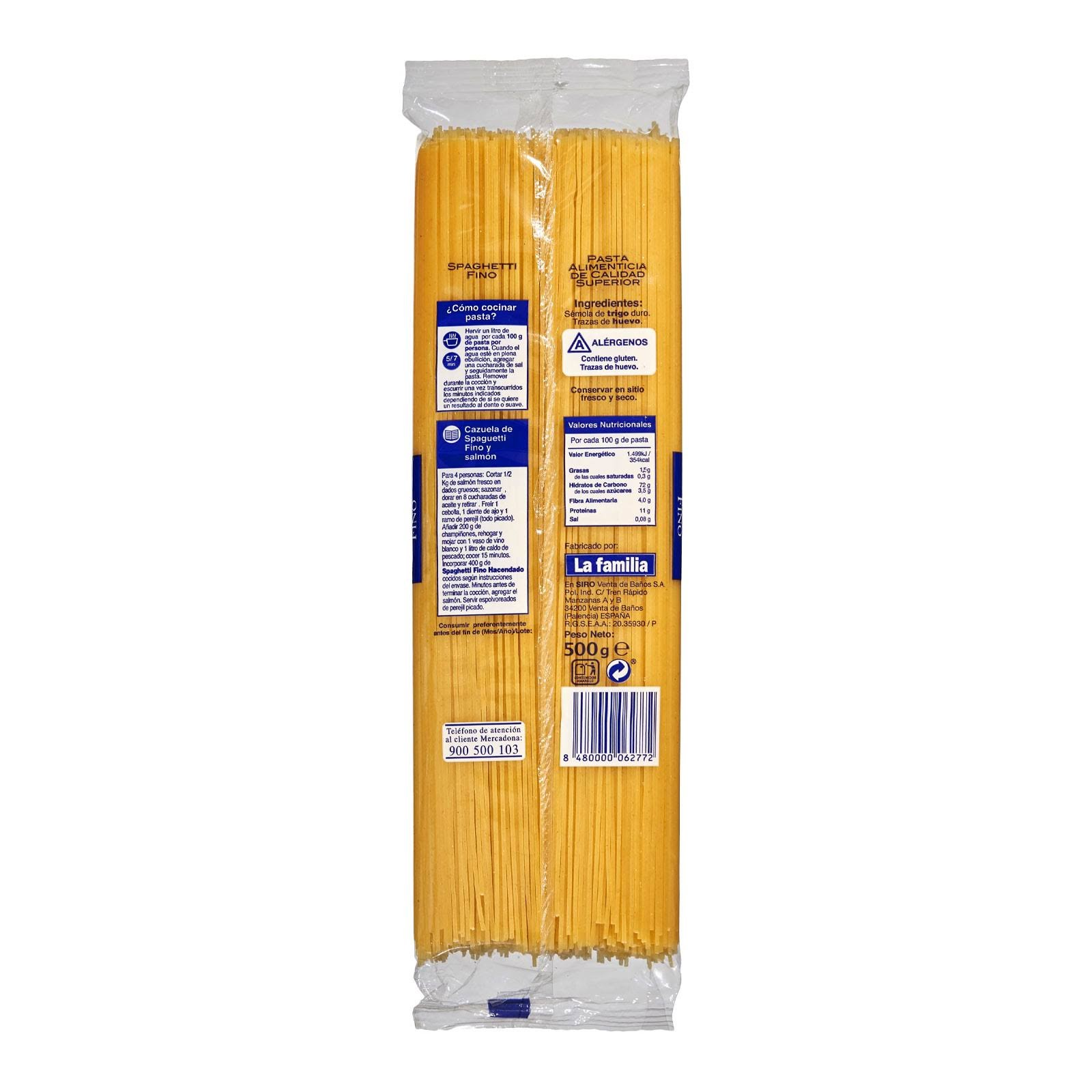 Spaghetti fino Hacendado