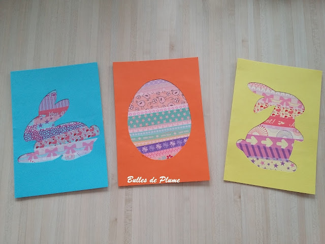 DIY Cartes de Pâques en masking tape