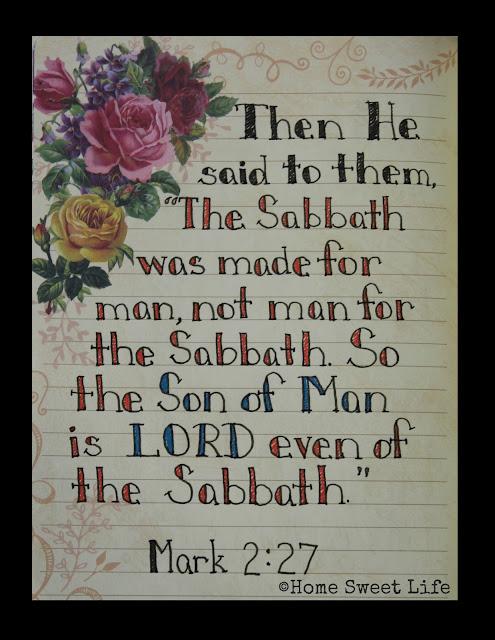 Scripture Writing, Mark 2:27