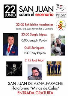 Feria de San Juan de Aznalfarache 2017 - Actuaciones día 22 de Junio