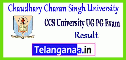 CCS Chaudhary Charan Singh University UG PG Revaluation Result