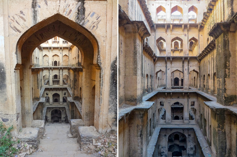 it not indian temples. this underground wells of incredible beauty