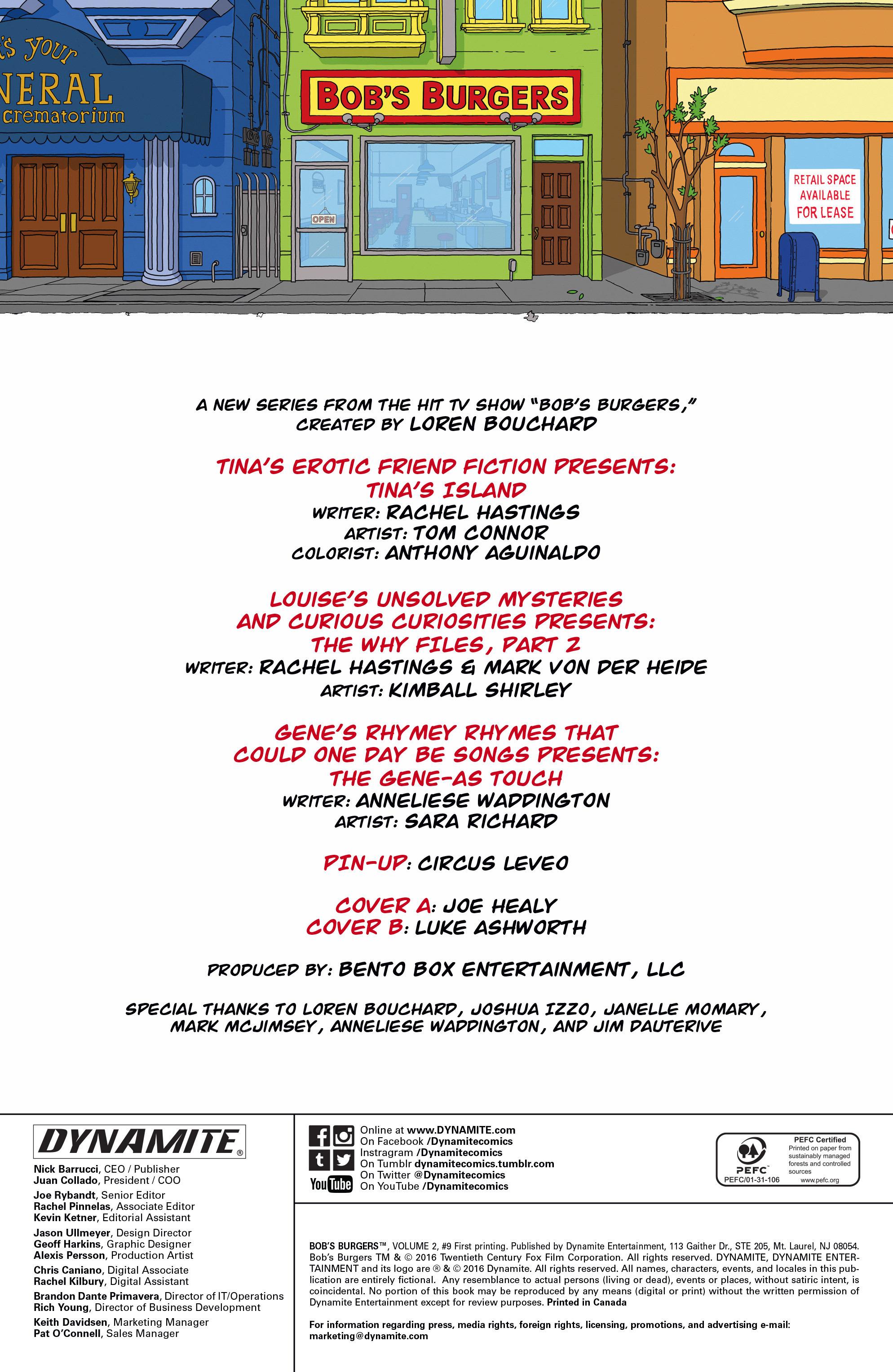 Bob's Burgers (2015) Issue #9 #9 - English 2