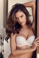 Alessandra Ambrosio sexy lingerie model photo
