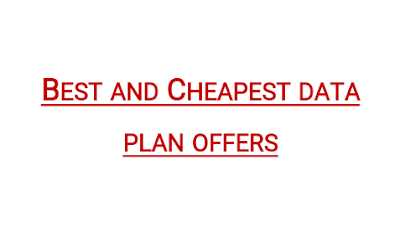 Best cheap data offer for all networks in Nigeria