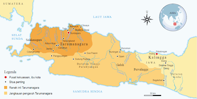 Peta Wilayah Tarumanagara