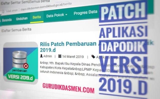 Instal Patch Dapodik Versi 2019d