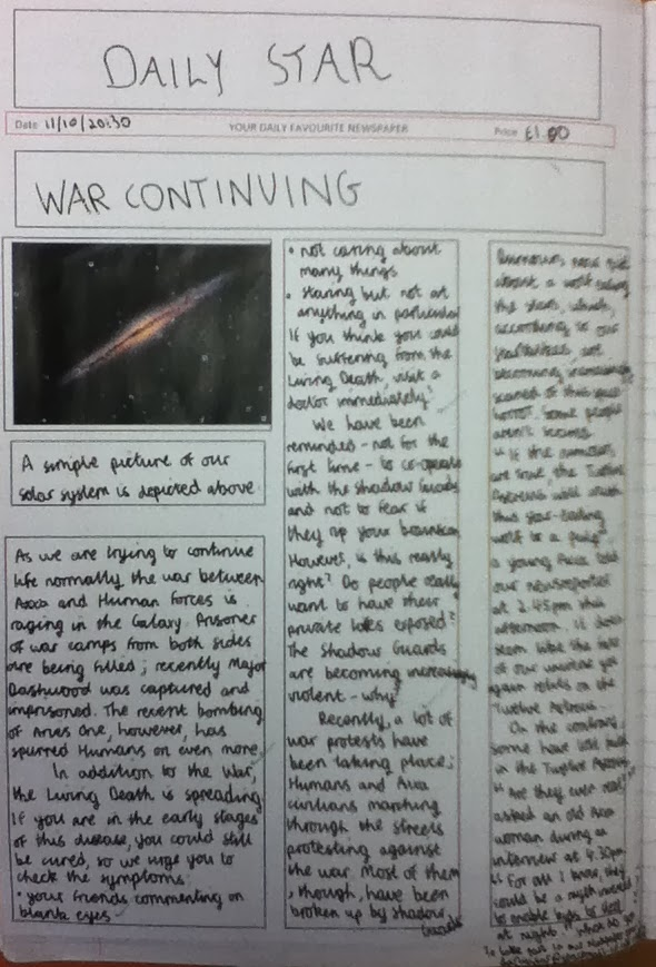 Picture in newspaper article example year 6