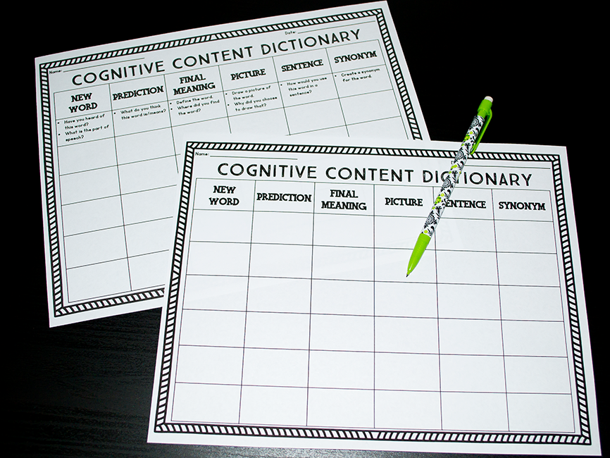 Personal Cognitive Content Dictionary