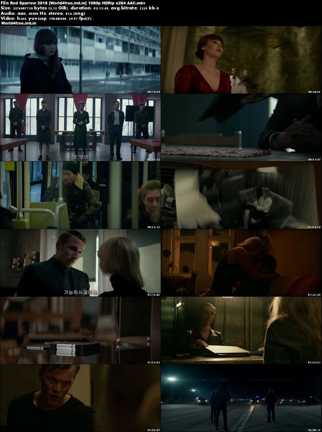 Red Sparrow 2018 worldfree4u Full HDRip Hollywood Dual Audio Movie Download