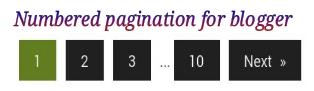Numbered Pagination Script For Blogger Blogs
