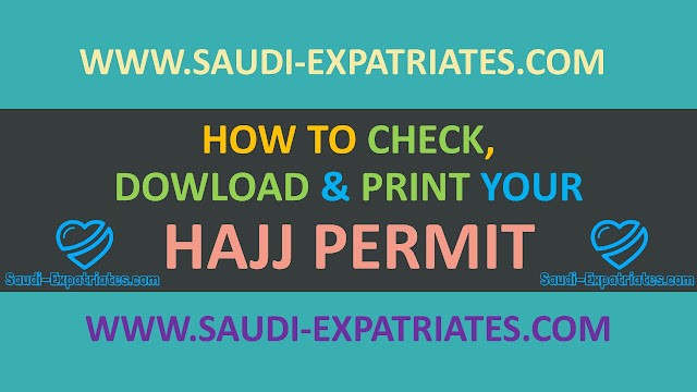 PRINT OR DOWNLOAD HAJJ PERMIT FROM MOI
