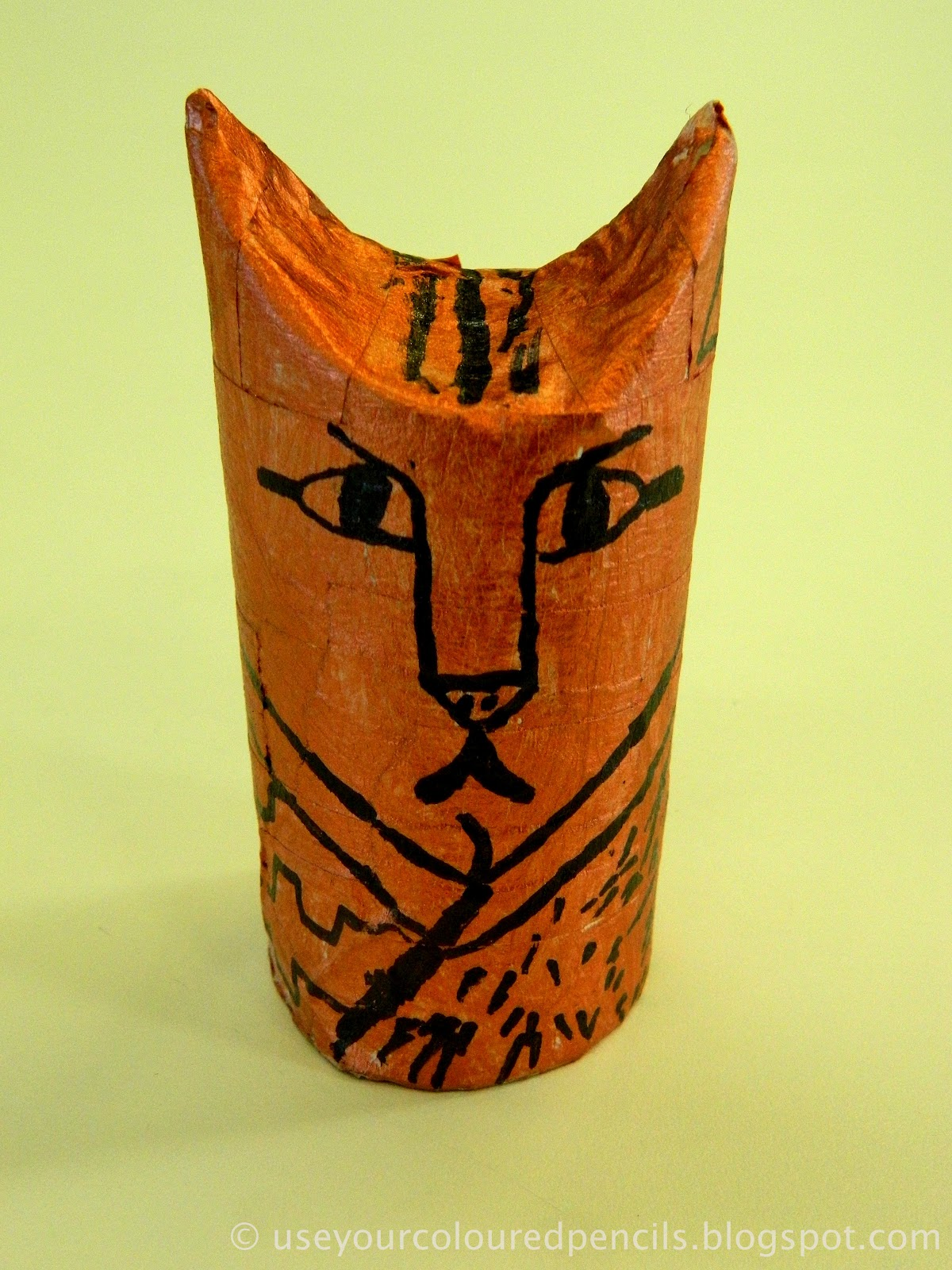 Use Your Coloured Pencils Egyptian Cat Mummies
