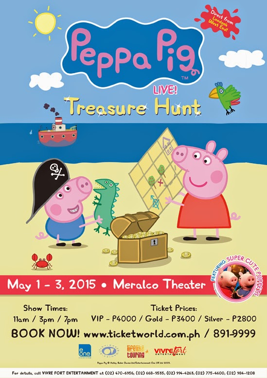 Peppa Pig Live! Treasure Hunt In Manila (May 1-3, 2015