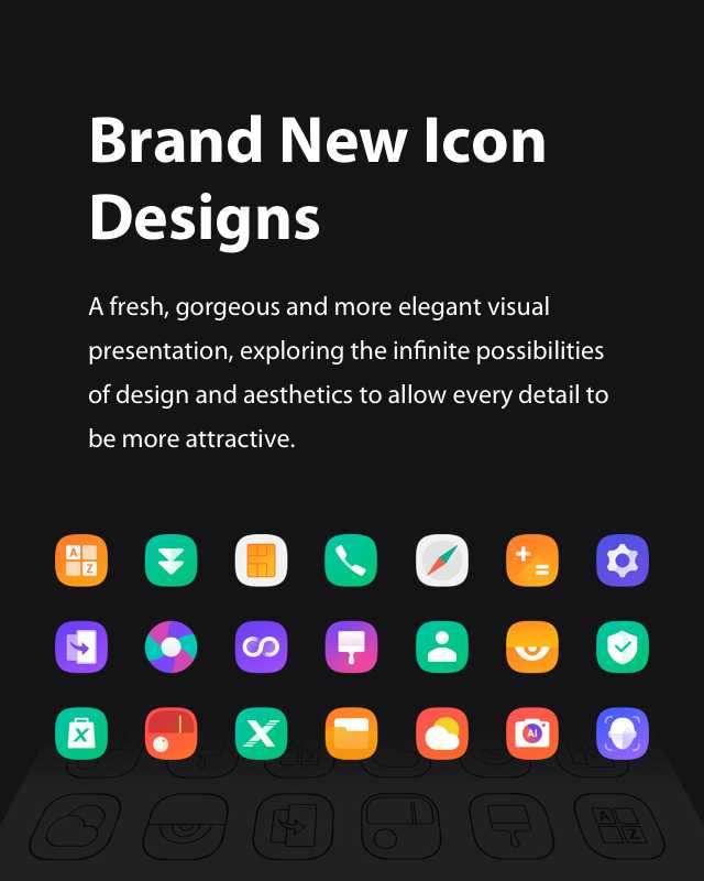 Brand new icons on Infinix Hot S4