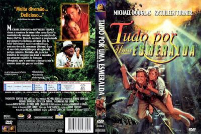 Filme Tudo por Uma Esmeralda (Romancing The Stone) 1984 DVD Capa