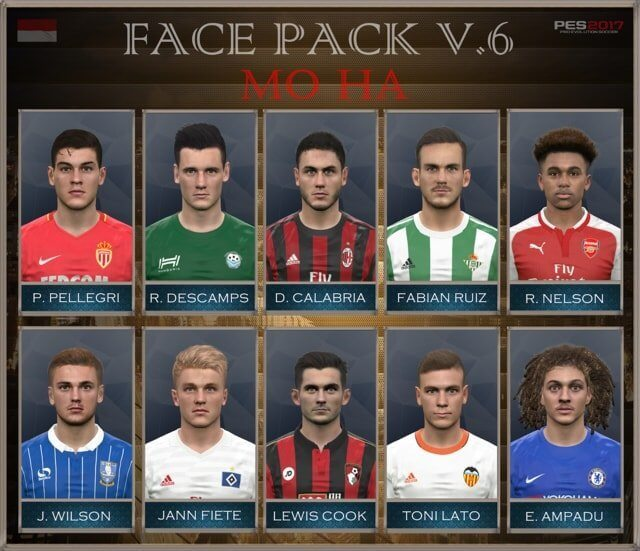 New Face Pack PES 2017