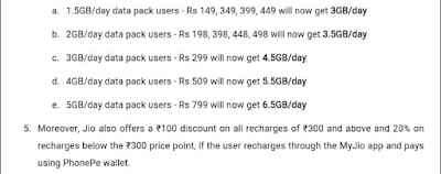 Jio Double Dhamaka Offer