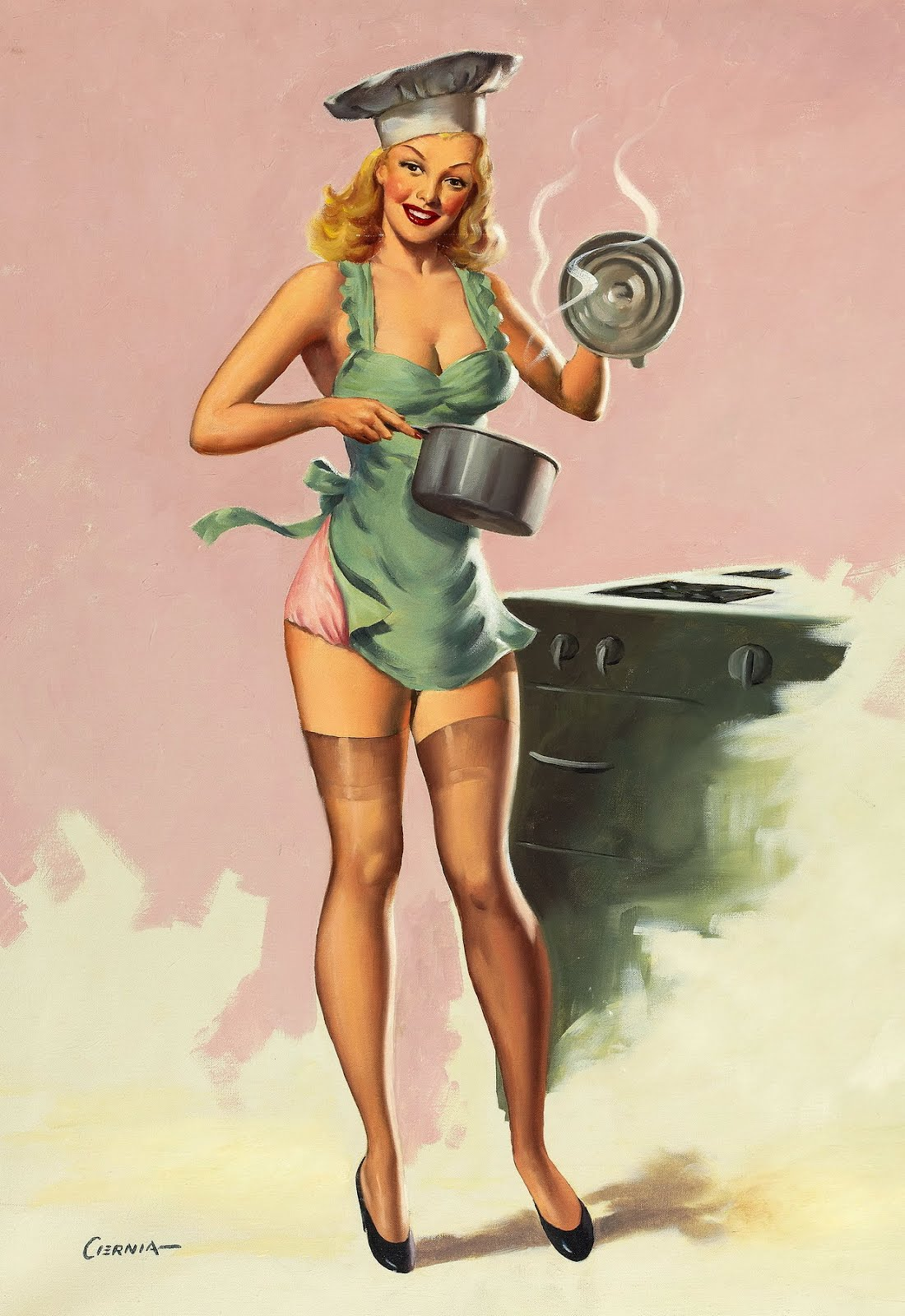 Pin Up Girl Kitchen Pizza