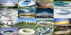 12 stadiums in Russia used for Fifa World Cup 2018